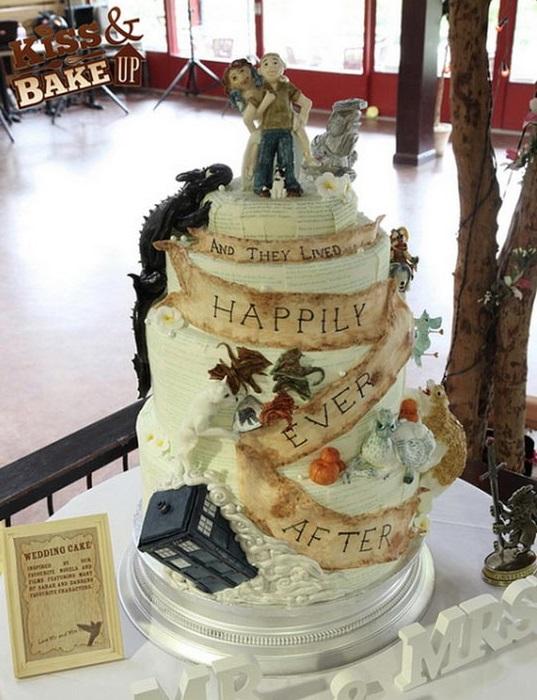 The ultimate nerd wedding cake