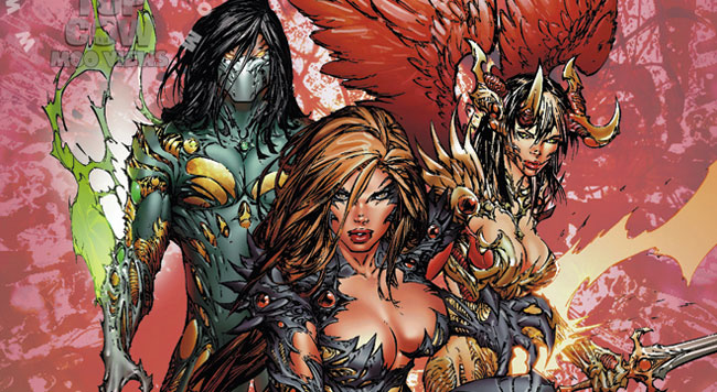 The Darkness, Witchblade e Ângelus, respectivamente.
